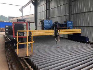 automatizēta cnc plazmas griešanas mašīna ar divkāršu braukšanu ar 4 m laidumu 15 m sliedēm