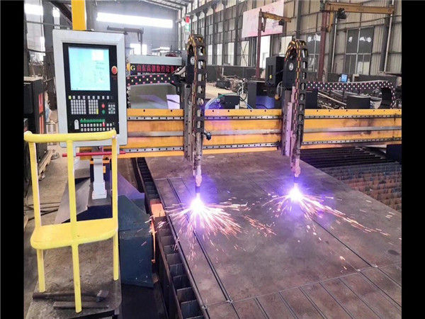 Divkārša piedziņa gantry CNC plazmas griešanas mašīna H sijas ražošanas līnijas Hypertherm CNC sistēma