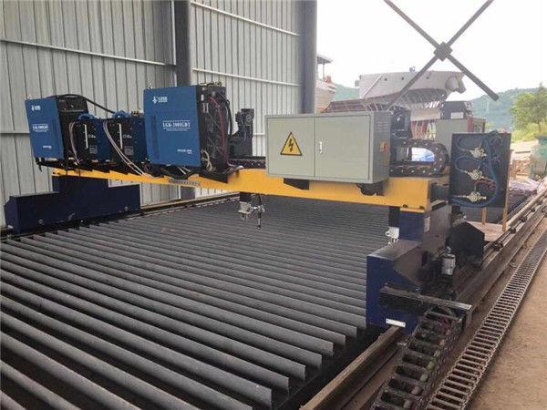 Dubultā piedziņa gantry CNC plazmas griešanas mašīna cietā tērauda H staru ražošanas līnijas griešanai