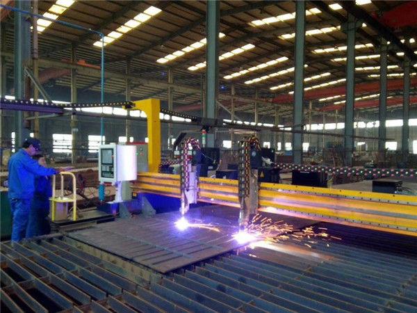 Gantry CNC plazmas griešanas mašīna un liesmu griešanas mašīna tērauda plāksnei