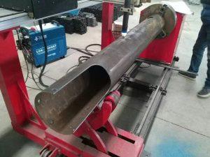 rotējoša vārpstas cnc apļa caurule zemu izmaksu cnc plazmas griešanas mašīna