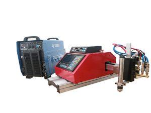 augstas kvalitātes portatīva maza cnc plazmas griešanas mašīna cinkota tērauda loksnei